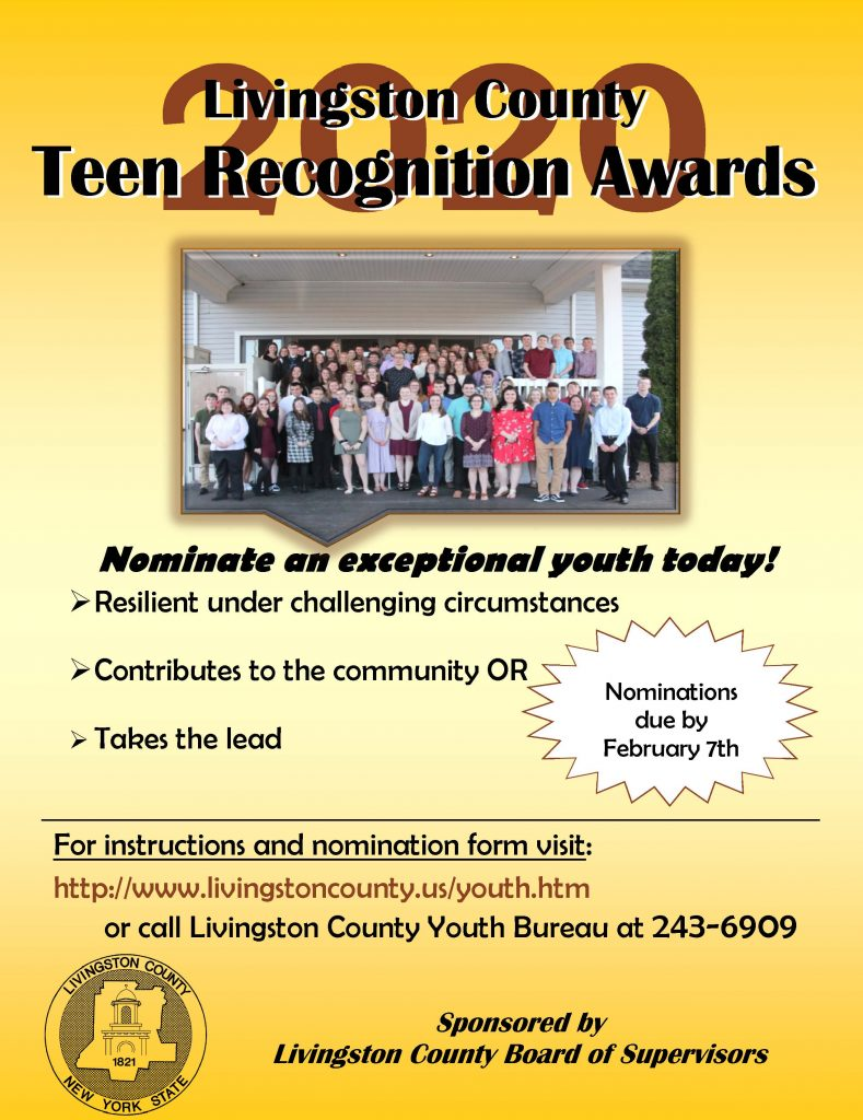 Teen Recognition Awards Flyer 2020 002 789x1024 - Nominations for Livingston Teen Recognition Awards Now Open