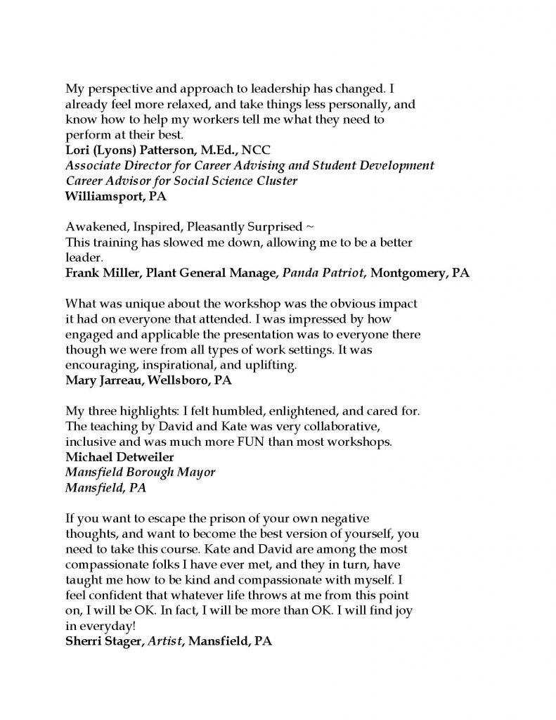 Testimonials 2021 Page 6 791x1024 - Stress-Free Leadership Sessions w/ Triumph Leadership Group