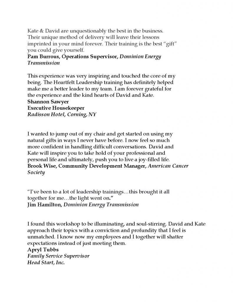 Testimonials REV July 2021 Page 02 791x1024 - Stress Free Leadership Training by Triumph Leadership Group