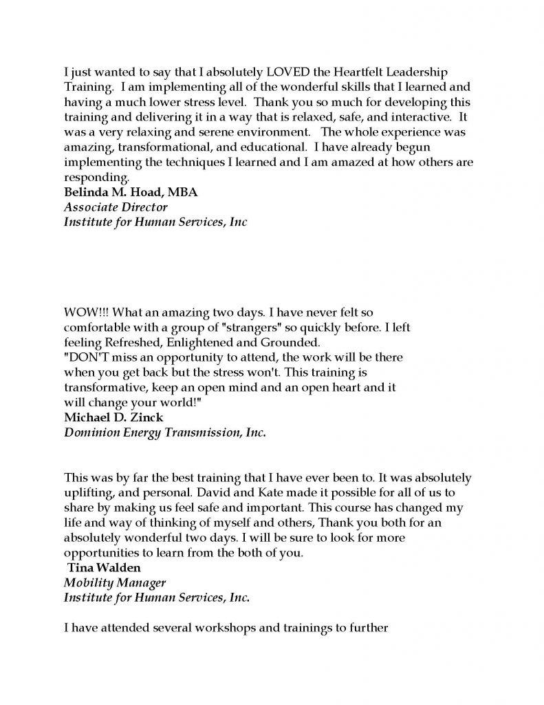 Testimonials REV July 2021 Page 03 791x1024 - Stress Free Leadership Training by Triumph Leadership Group