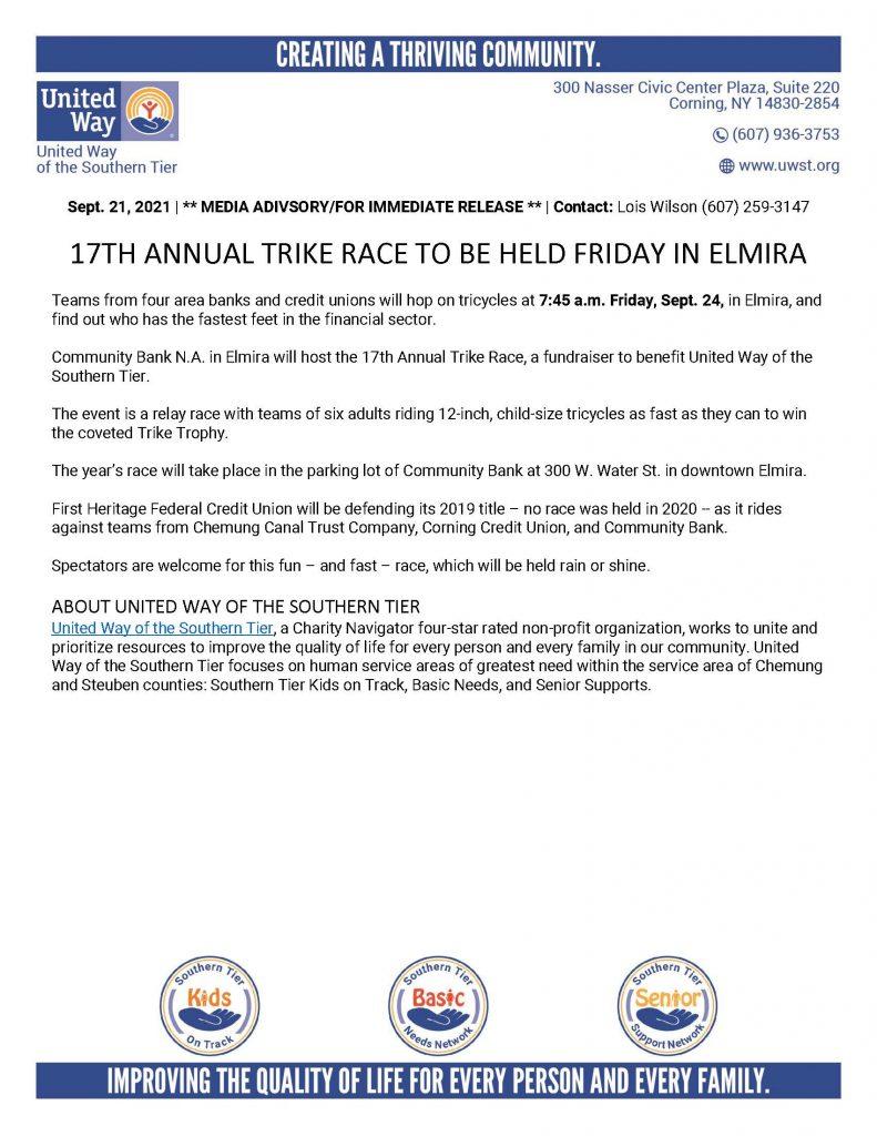 Trike Race 2021 791x1024 - Area Banks' Trike Race to Benefit United Way