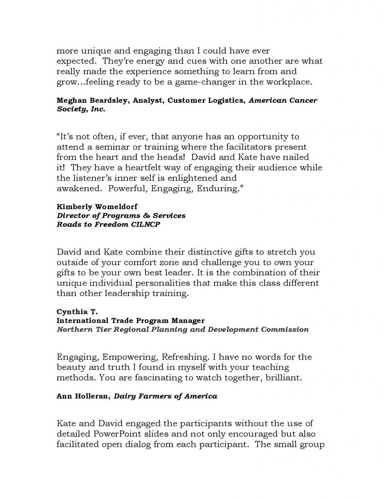Triumph Testimonials 2020 2 Page 4 791x1024 - Triumph Leadership Offers Socially Distanced Presentations