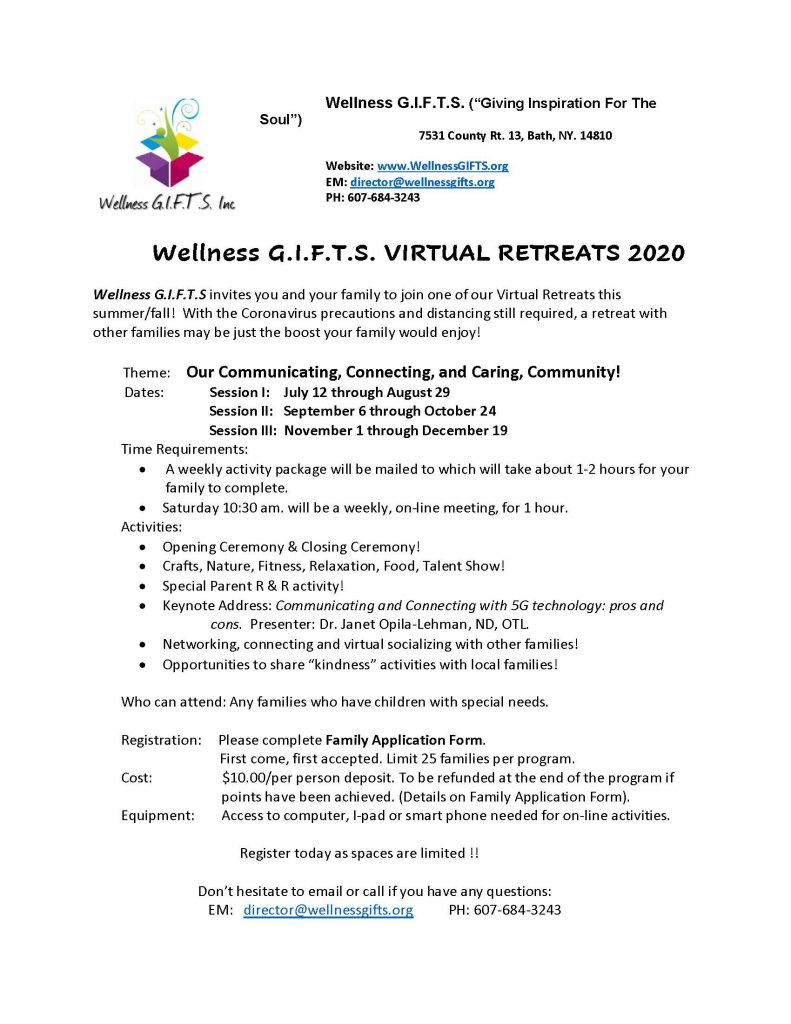 Virtual Retreats details Page 1 791x1024 - Wellness G.I.F.T.S. Introduces Virtual Retreats for 2020