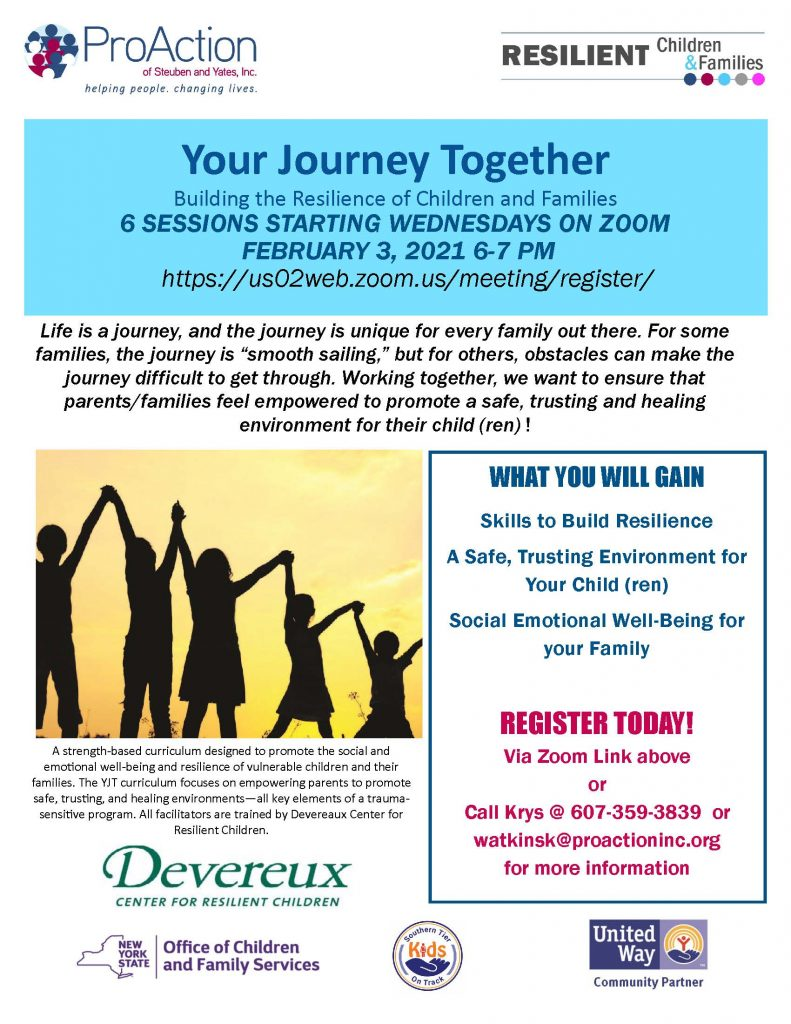 Your Journey Together FEB2021 791x1024 - Upcoming Virtual Cafes, Parent Education, and Events from Pro Action