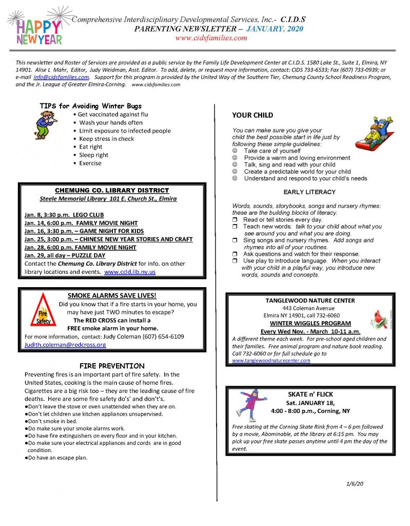 current JAN. 2020 Page 1 799x1024 - CIDS Parenting Newsletter (January)